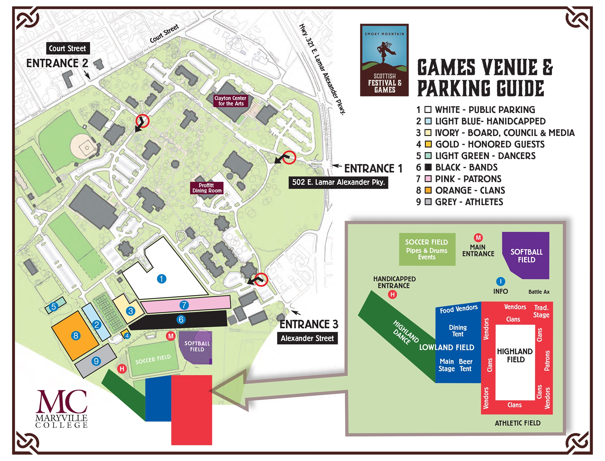 Directions And Parking Scottish Festival And Games